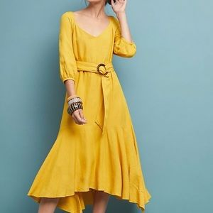 Anthropologie Perfect Yellow Summer Dress